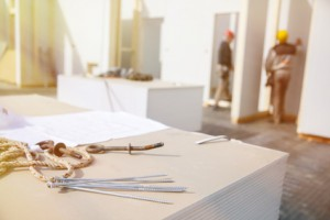 Trockenbau-Wände und Trockenbau-Wand: Arbeiten erstellen neue Wände.