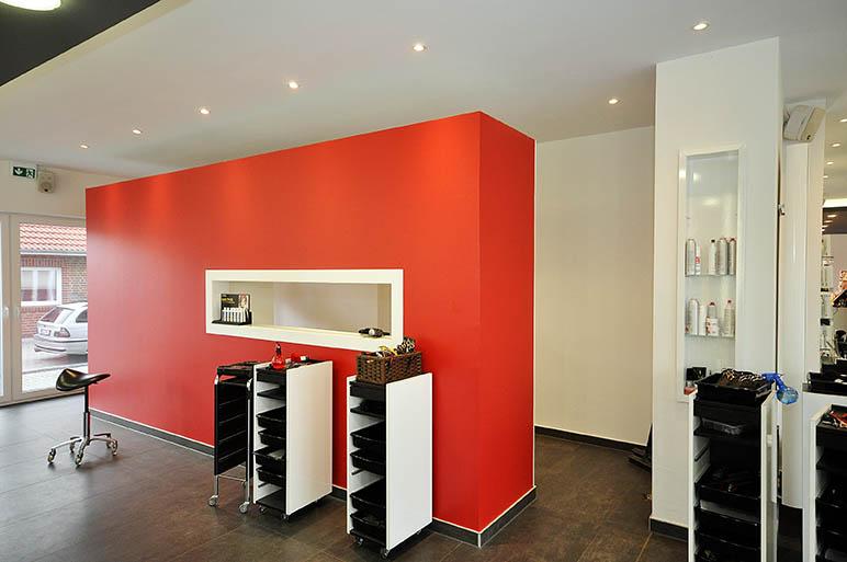 Hairfashin in Wiesmoor (Kreis Aurich): Trockenbauwand, Deckengestaltung, Akustikdecke, Deckenbau, Akustiker.